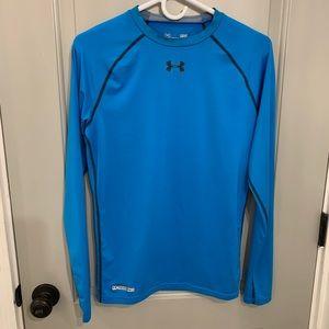 Blue Under Armour HeatGear Compression shirt large